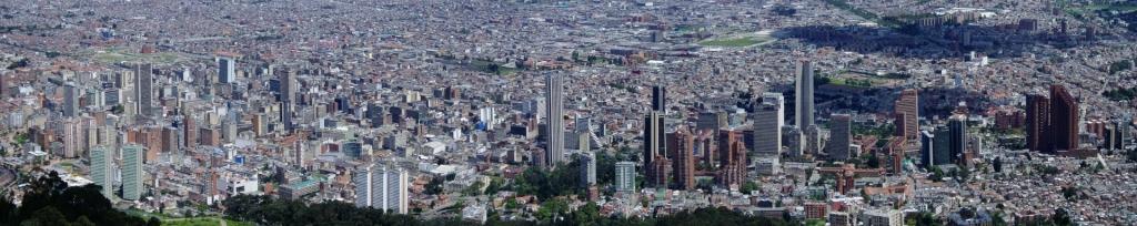 Vista panorámica de la ciudad de Bogotá