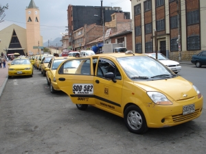 Servicio de taxis en Bogotá